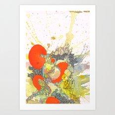 Orange Pathway Art Print