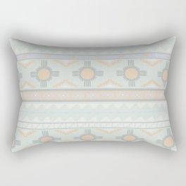 Desert Stripes No. 3 in Sage Bush Green Rectangular Pillow