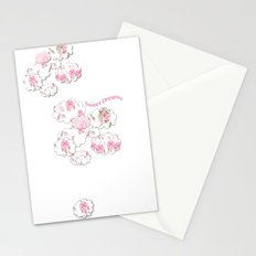 Sweet Dreams on white Stationery Cards