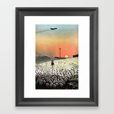 Sheep Flights For The Humdrum Jetset Framed Art Print