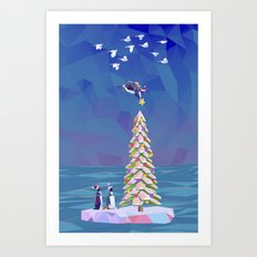 Christmas Flight Art Print