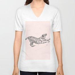 Tiger and Sun I. Unisex V-Neck