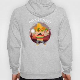 Dabbing Mexican In Sombrero Poncho Cinco De Mayo Hoody