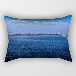 Boat Coming Into the Harbor Rectangular Pillow