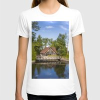 michigan T-shirts featuring Michigan Cottage by davehare