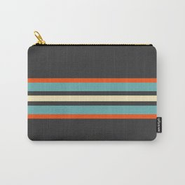 Classic Retro Stripes Amikiri Carry-All Pouch