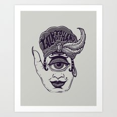 Talk to the Hand Art Print