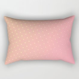 Warm Pink Dots Rectangular Pillow