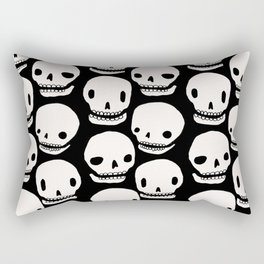 Skull Print Rectangular Pillow