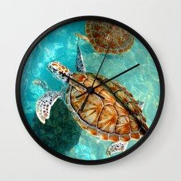 Sea Turtles in Mexico Wall Clock