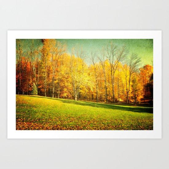 Golden Autumn in Ohio Art Print