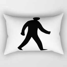 Walking Man Silhouette Rectangular Pillow