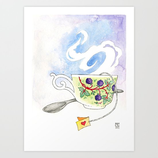 Blackberry Cup Art Print