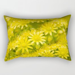 Dreamy Spiral Yellow Flowers Rectangular Pillow
