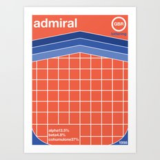 admiral single hop Art Print