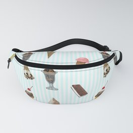 Ice Cream Collage Fanny Pack