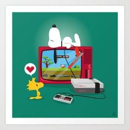Duck Game Art Print