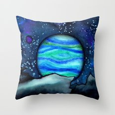 Celestial Landscape Throw Pillow