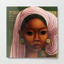 Harlem Renaissance - African American Masterpiece - A Woman from Bali by Miguel Covarrubias Metal Print