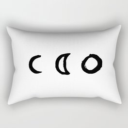I'd Give You the Moon - White Rectangular Pillow