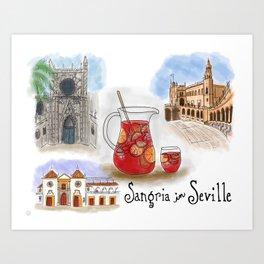 Sangria in Seville, Spain Art Print