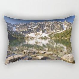 Morskie Oko lake in the Tatra Mountains, Poland Rectangular Pillow