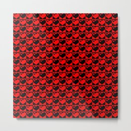 Hearts Love Collage Metal Print
