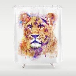 Lioness Head Shower Curtain
