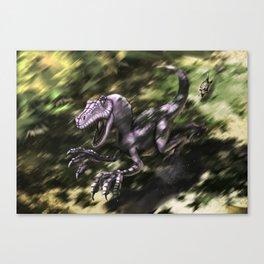 Brave Lizard Canvas Print