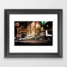 Lights on Broadway Framed Art Print