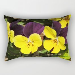 The Pansies at the Corner Rectangular Pillow