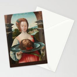 Salome with the Head of John the Baptist, Jacob Cornelisz van Oostsanen, 1524 Stationery Cards