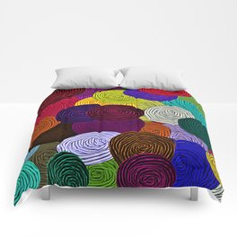 Colorful Circle Art Comforters