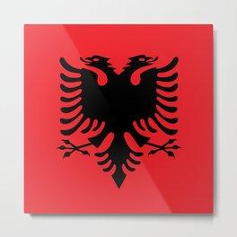 Albanian flag Metal Print