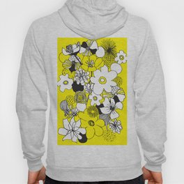 Floral Medley - Yellow Hoody