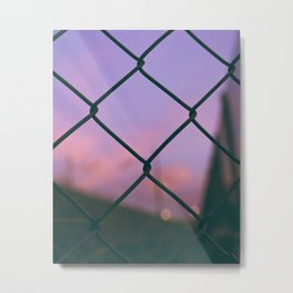 Fenced Street Photography Metal Print