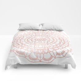 Rose Gold Boho Mandala Comforters
