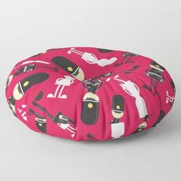 Cute Cartoon Policeman Pattern Floor Pillow