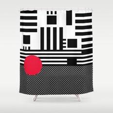 stripes mesh Shower Curtain