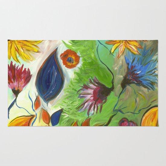 Flower Swirls Rug