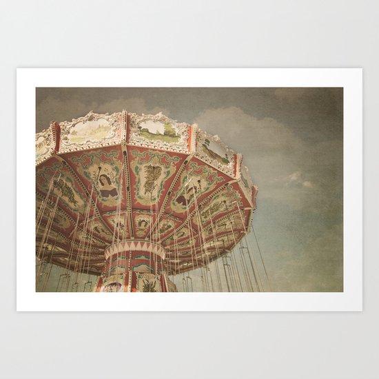 Vintage Swings Art Print