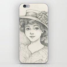 Sketch of an Edwardian Lady iPhone & iPod Skin
