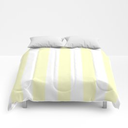 Conditioner pink - solid color - white vertical lines pattern Comforters