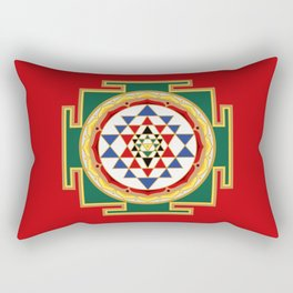 Sri Yantra colored Rectangular Pillow