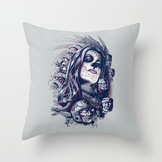 Coyolxauhqui Throw Pillow