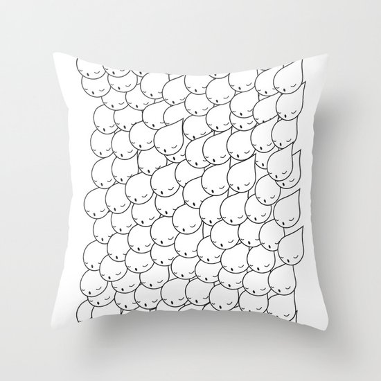 FOLLOW ME FOLLOW YOU Throw Pillow