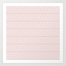 Pink Geometric Lines Art Print