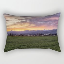 Mountain Sunrise - Teton Valley, Idaho Rectangular Pillow