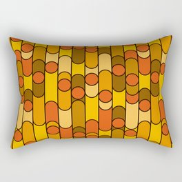 Retro pattern orange Rectangular Pillow