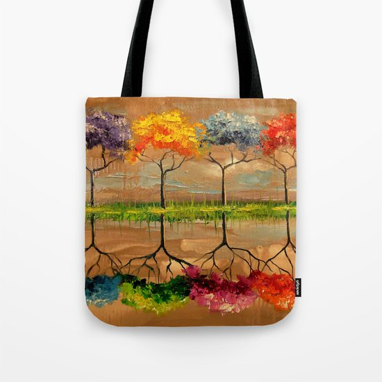 Each tree by its smell Tote Bag